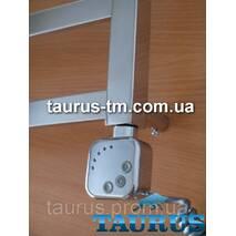 ТЭН HeatQ chrome квадратный, регулятор 30-60С + таймер 2ч. + LED для полотенцесушителя; Поворотный; Польша 1/2