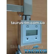 Квадратний ЭЛЕКТРОТЭН з екраном   регулятор   таймер (Польща) хром, для полотенцесушителя TAURUS