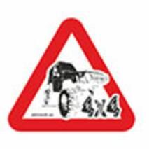Наклейка на авто Znaki Джип 4х4