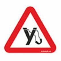 Наклейка на авто Znaki У ( рогатка )