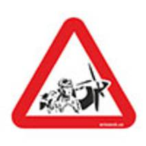 Наклейка на авто Znaki Льотчик за кермом