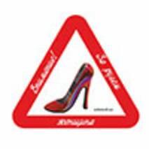 Наклейка на авто Znaki Увага ! За кермом - жінка !