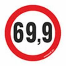Наклейка на авто Znaki 69.9