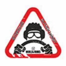 Наклейка на авто Znaki Обережно! За кермом танкіст!