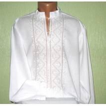 рубашка мужская вышитая белым по белому