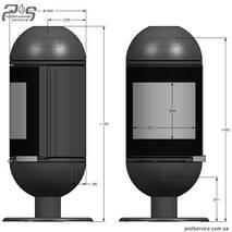 Чавунна піч INVICTA ALTAIS антрацит - 6 кВт