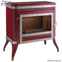 Чавунна піч INVICTA TENNESSEE червона емаль - 8 кВт