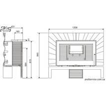 Чавунна піч INVICTA ORIYA антрацит - 12 кВт