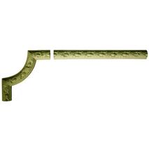Кутовий декоративний елемент з гіпсу Ке/001 + Мо/002