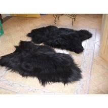 Шкура овцы - овечьи шкуры - овечья шкура (черного цвета)