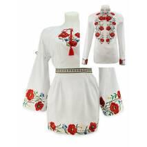 Украинские свадебные наряды, вышитые маками