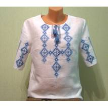 жіноча вишиванка з коротким рукавом