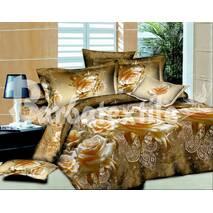 Комплект постельного белья  евро роза винтаж
