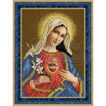 O080ан1622  Икона Открытое Сердце Марии 16 см x 22 см