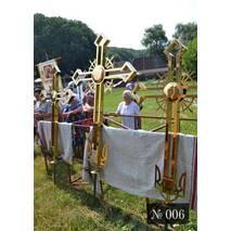 Православний хрест № 006 з тризубом в основі