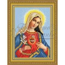 TO089ан1622  Икона Открытое Сердце Марии 16 см x 22 см