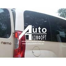 Задний салон, правое стекло на Fiat Fiorino, Citroёn Nemo, Peugeot Bipper (Фиат Фиорино, Ситроен Немо, Пежо Биппер)