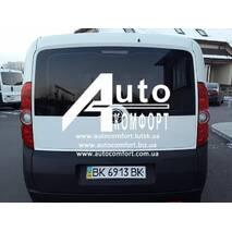 Заднее стекло (ляда) с э. о. и отверстием на Opel Combo D (2011-) (Опель Комбо Д 2011-)
