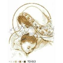 TO013ан2535  Мария с ребенком коричневая 25 см x 35 см