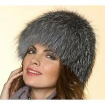 2. Женская меховая шапка (снопик на трикотаже)