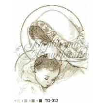 TO012ан2535   Мария с ребенком бежевая 25 см x 35 см