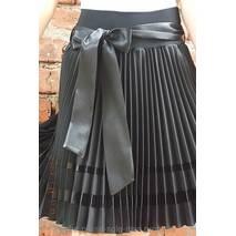 Спідниця плісе для дівчинки-підлітка чорний габардин