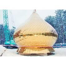 Церковные купола с искусственной позолотой