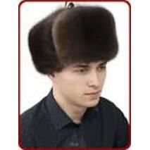 2. Мужская меховая шапка (черная)