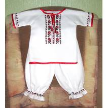 костюм вишитий ручної роботи для хрещення