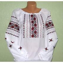 українська вишита сорочка ручної роботи для дівчини з трояндами