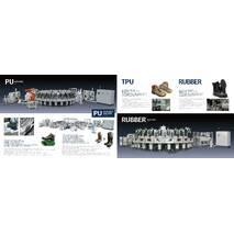 Роторні інжекційні машини для взуття, підошов PU, PU / TPU, PU / RU /
