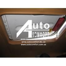 Люк автомобильный, металлический, 50х65, с аварийным выходом и полным открытием/закрытием