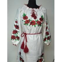 Жіноча сукня вишиванка макі