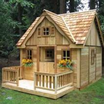 Дитячі деревяні будинки