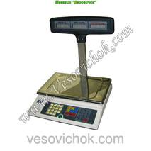 Весы торгові з акумулятором ВТА-60/15-5-Т-А (15 кг)