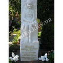 Мраморная фигура ребёнку на могилу