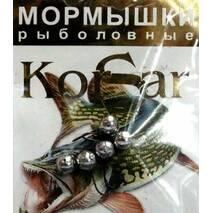 Мормышка Korsar Дробинка средняя (уп.20х5шт) оксидированный темный