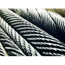 Канат з нержавіючої сталі  ДІНІВ 3053 (ГОСТ 3063-72) 12,00 мм,  Конструкція 1х19