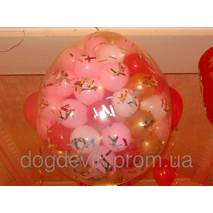 """Шар сюрприз чорний 31"""" (80 см).  Кульки повітряні гіганти Gemar"""