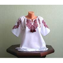 Блузка женская вышитая ручной работы, с коротким рукавом