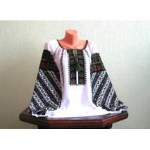 Вышитая рубашка женская ручной работы с богатым борщивским узором