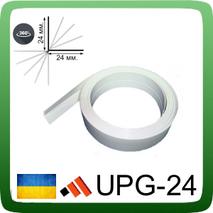 Универсальный гибкий угол из ПВХ, 24х24 мм. 3,0 м., Белый