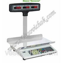 Весы торгові з акумулятором ВТА-60/30-5-Т-Ш-А (15 кг)