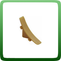 Фурнитура плинтуса для столешниц IDEAL PST-25. Заглушка торцевая правая, Металлик