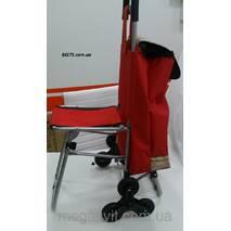 Сумка на 6 колесах з доладним стільцем (візок із стільчиком)