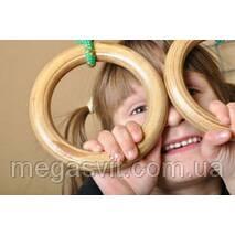 Спорт для дітей - кільця гімнастичні (gymnastic rings) Лак