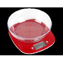 Электронные кухонные весы с чашей Magio MG-290 5кг Красный