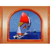"""3D-інтер'єрна панорама """"Червона яхта"""" Серія """"Вікна"""""""