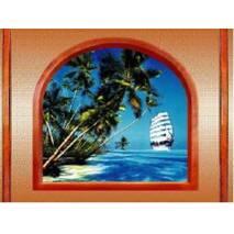 """3D-інтер'єрна панорама """"Пляж-2"""" Серія """"Вікна"""""""