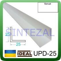 Декоративный пластиковый уголок IDEAL, L-2,7 м. 25 х 25, Белый